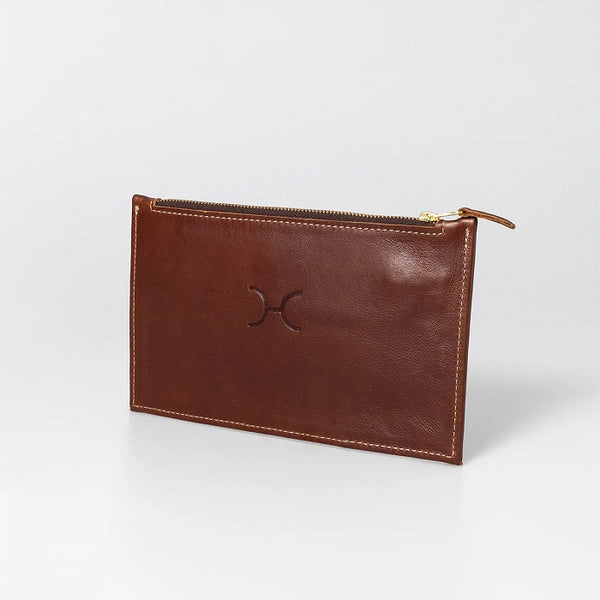 Thandana Ladies Leather Double Gold Zip Pouch Purse - KaryKase