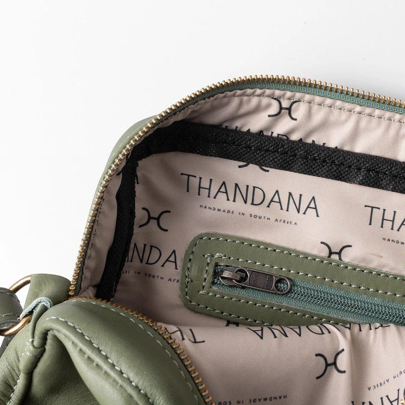 Thandana Boxy Leather Sling Handbag | Hazelnut - KaryKase