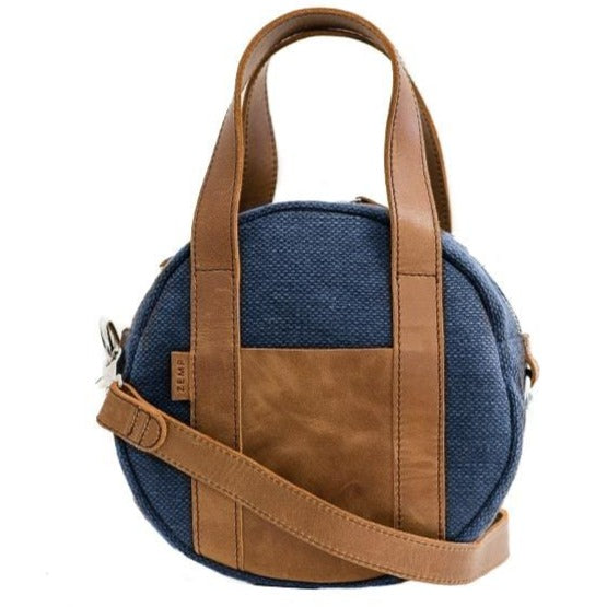 Zemp Tamarin Medium Rounded Crossbody Handbag | Ocean - KaryKase