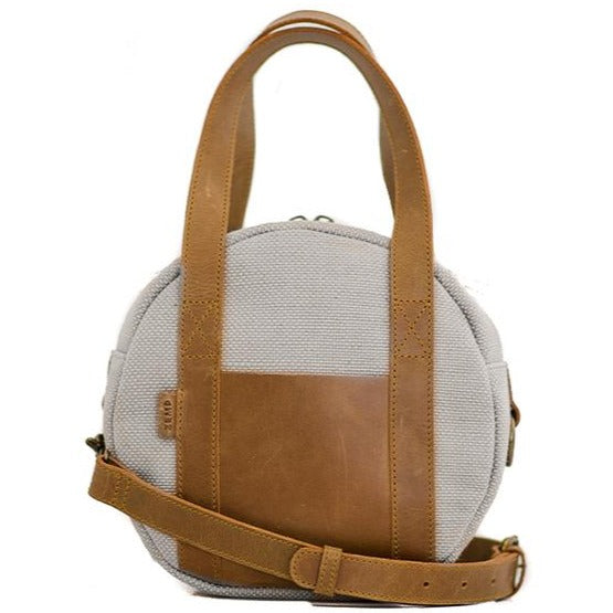 Zemp Tamarin Medium Rounded Crossbody Handbag | Platinum - KaryKase