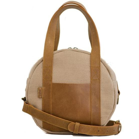 Zemp Tamarin Medium Rounded Crossbody Handbag | Sand - KaryKase