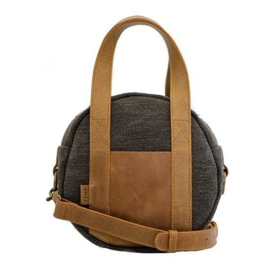 Zemp Tamarin Small Rounded Crossbody Handbag | Charcoal - KaryKase