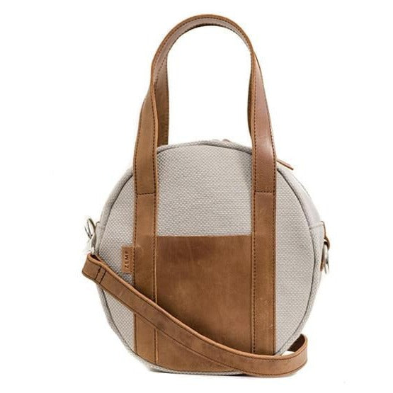 Zemp Tamarin Small Rounded Crossbody Handbag | Platinum - KaryKase