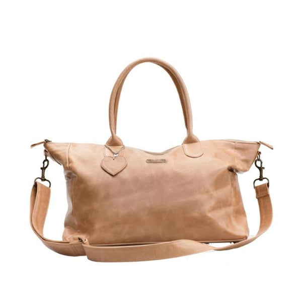 Mally Classic Leather Baby Bag | Tan