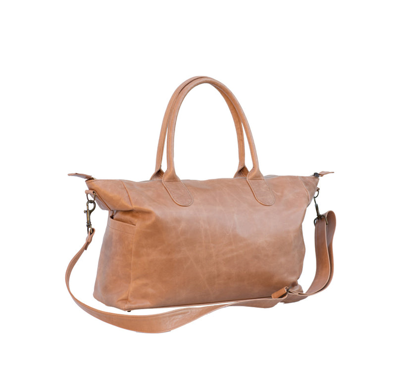 Mally Classic Leather Baby Bag | Tan - KaryKase