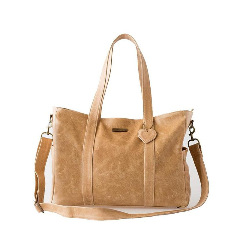 Mally Luxury Leather Baby Bag | Tan - KaryKase