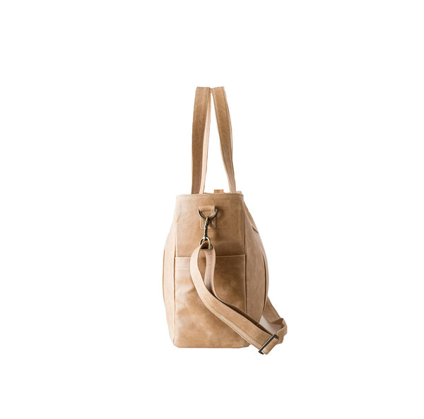 Mally Luxury Leather Baby Bag | Tan