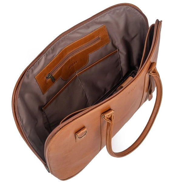 Mally 15 Inch Ladies Leather Laptop Bag | Toffee - KaryKase