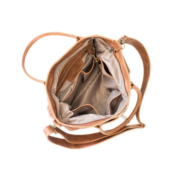 Mally Beula Leather Baby Bag | Toffee