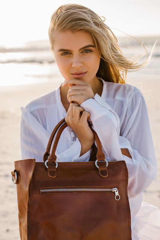 Zemp Bastille Grab and Go Handbag | Toffee Tan - KaryKase