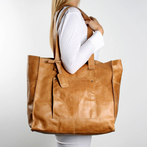 Thandana Tote Leather Handbag | Green - KaryKase