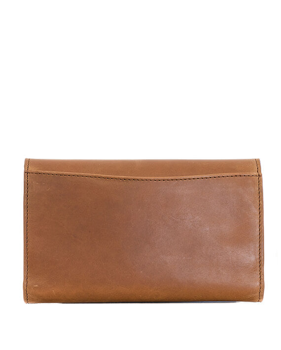 Zemp Tracey Fold-up Purse With Removable Coin Pouch | Waxy Tan - KaryKase
