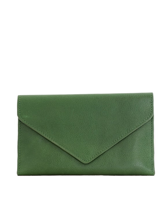 Zemp Tracey Fold-up Purse With Removable Coin Pouch | Forest Green - KaryKase