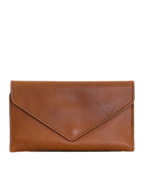 Zemp Tracey Fold-up Purse With Removable Coin Pouch | Toffee Tan - KaryKase