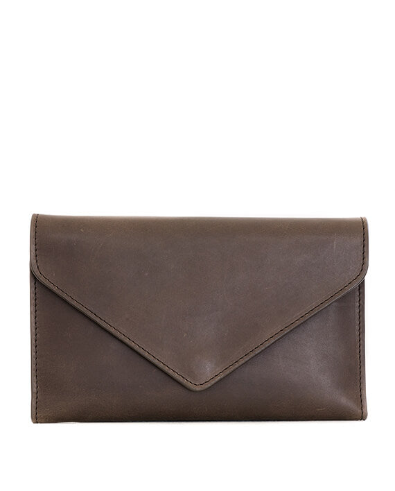 Zemp Tracey Fold-up Purse With Removable Coin Pouch | Waxy Brown - KaryKase