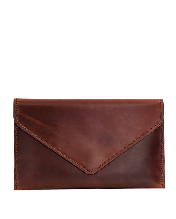 Zemp Tracey Fold-up Purse With Removable Coin Pouch | Chestnut - KaryKase