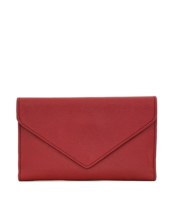Zemp Tracey Fold-up Purse With Removable Coin Pouch | Red - KaryKase