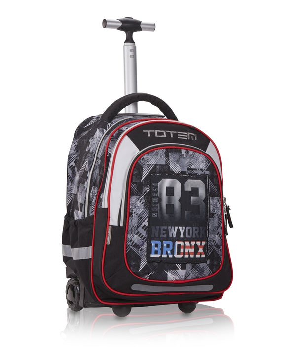 Totem School Trolley Backpack Large Bronxz (6-10 years) | Black - KaryKase