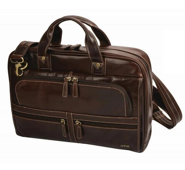 Adpel Capri Leather Computer Bag | Brown - KaryKase