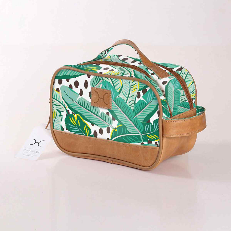 Thandana Laminated Fabric Vanity Bag | New Designs - KaryKase