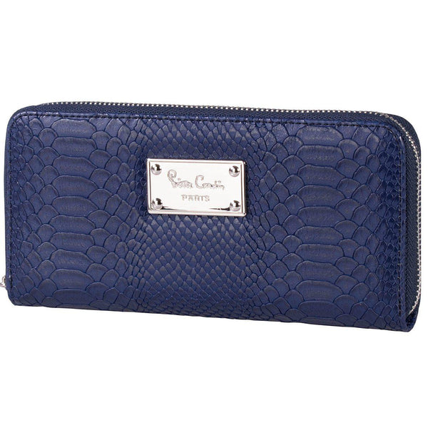 Pierre Cardin Regan Croc Zip Around Purse | Navy - KaryKase