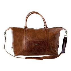 Mally William Leather Travel Duffel Bag | Brown