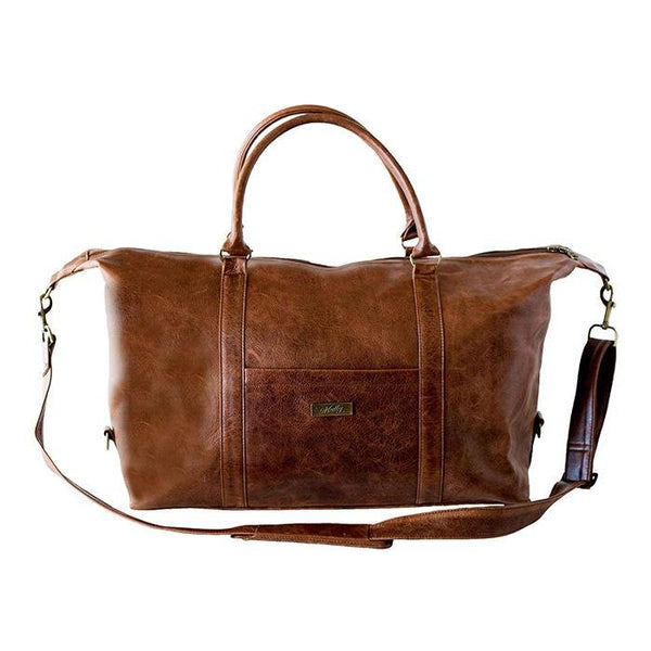 Mally William Leather Travel Duffel Bag | Brown - KaryKase