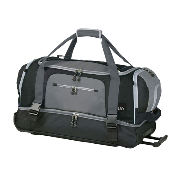 Eco Earth Wilson Double Decker Duffel Bag | Black/Grey - KaryKase