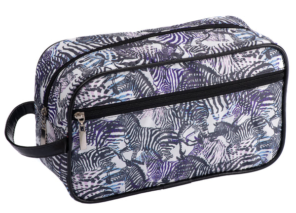 Caramia Zebcrossing Cosmetic Case L | Black/White