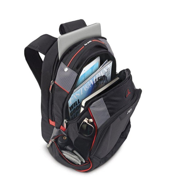 Solo Launch Laptop Backpack with Hardshell Front Pocket | Black - KaryKase