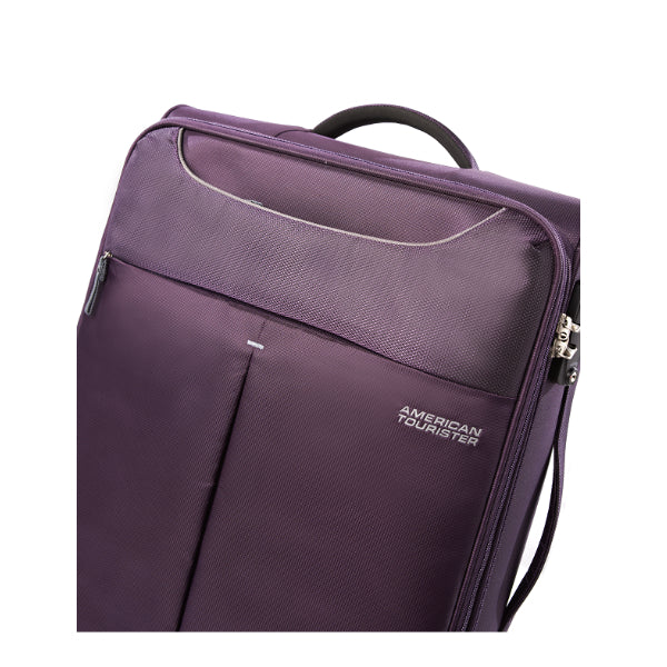 American Tourister Sky 55cm Cabin Spinner - Expandable | Purple/Grey - KaryKase