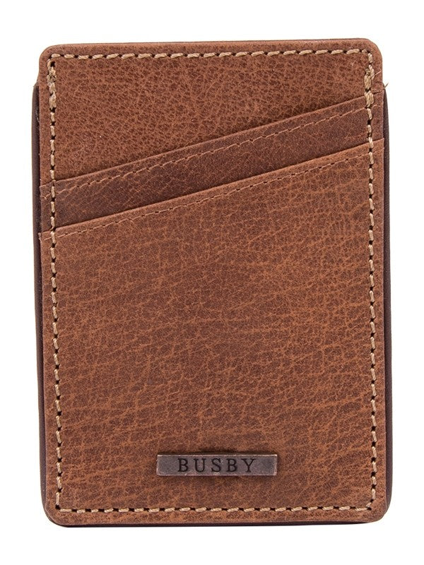Busby Leather Zulu Card Case | Brown