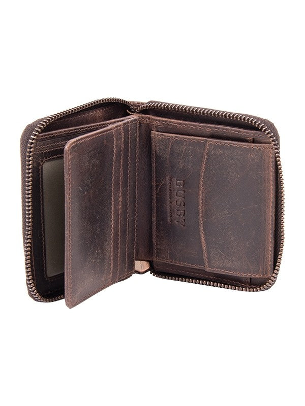 Busby Leather Ranch II Zip Around Billfold | Brown