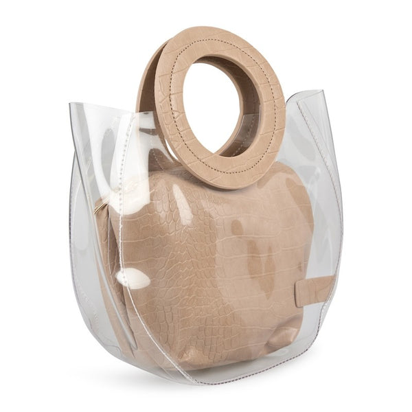 Tessa Design Transparent Bag | Beige - KaryKase