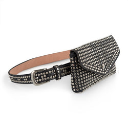 Tessa Design Studded Waist Bag | Black - KaryKase