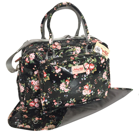 Notting Hill Large Pocket Nappy Bag | Black Floral - KaryKase