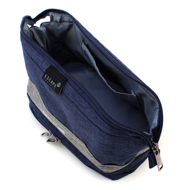 Escape Society Double-Deck Toiletry Bag | Blue - KaryKase