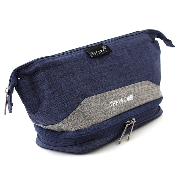 Escape Society Double-Deck Toiletry Bag | Blue