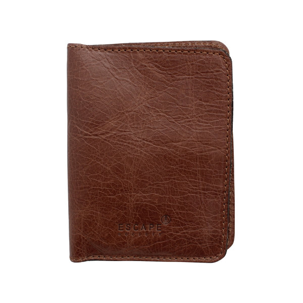 Escape Society Genuine Leather Passport Holder | Daytona Coco Brown - KaryKase