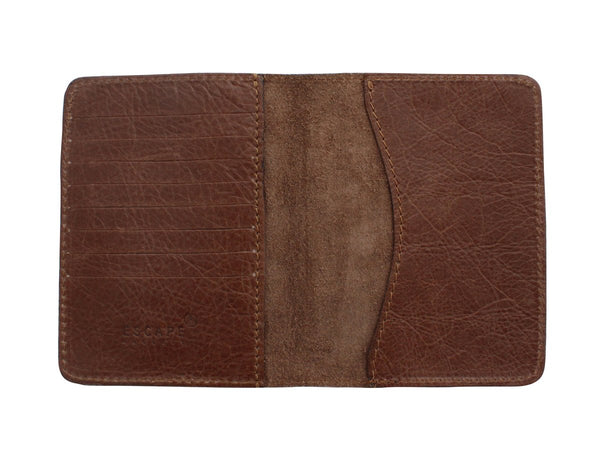 Escape Society Genuine Leather Passport Holder | Daytona Coco Brown