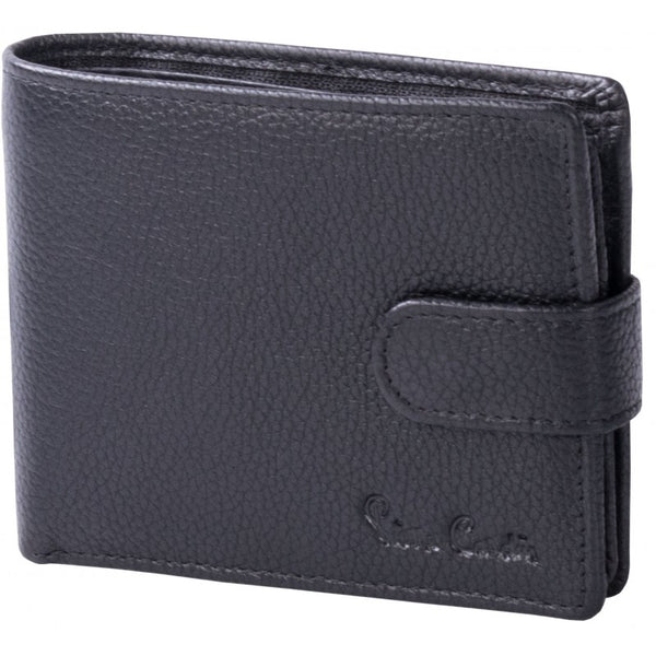 Pierre Cardin Byron Leather Tab Wallet | Black - KaryKase