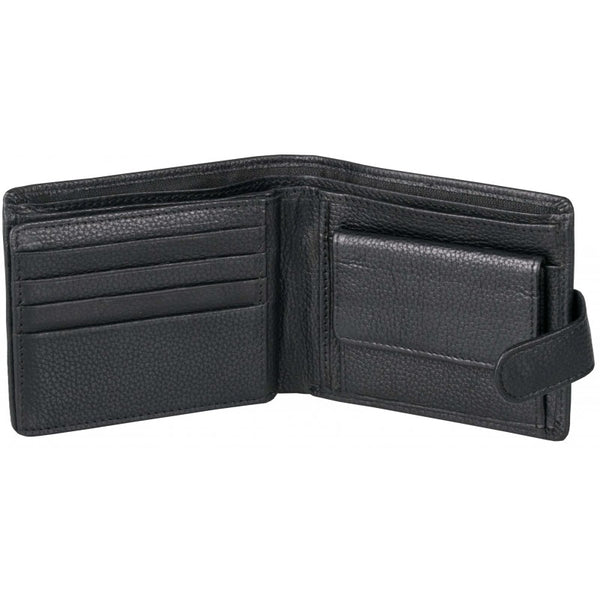 Pierre Cardin Byron Leather Tab Wallet | Black