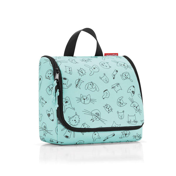 Reisenthel® Children's Toiletry Bag | Cats And Dogs Mint - KaryKase