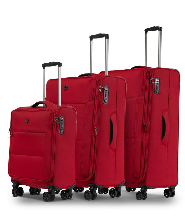 Conwood Soho Spinner Luggage Set | Red - KaryKase