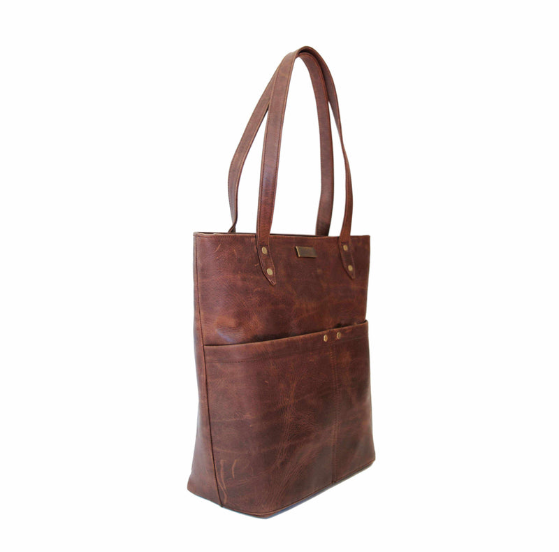 Mally Betty Leather Handbag | Brown - KaryKase