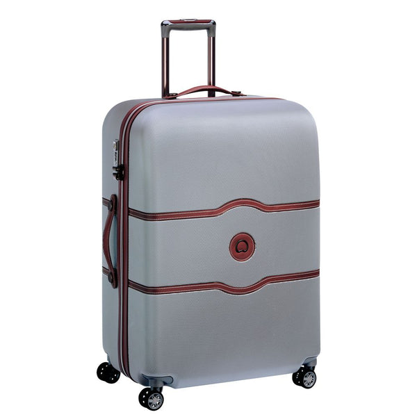 Delsey Chatelet Air Large Check In Case 77cm 4 Double Wheels | Silver - KaryKase