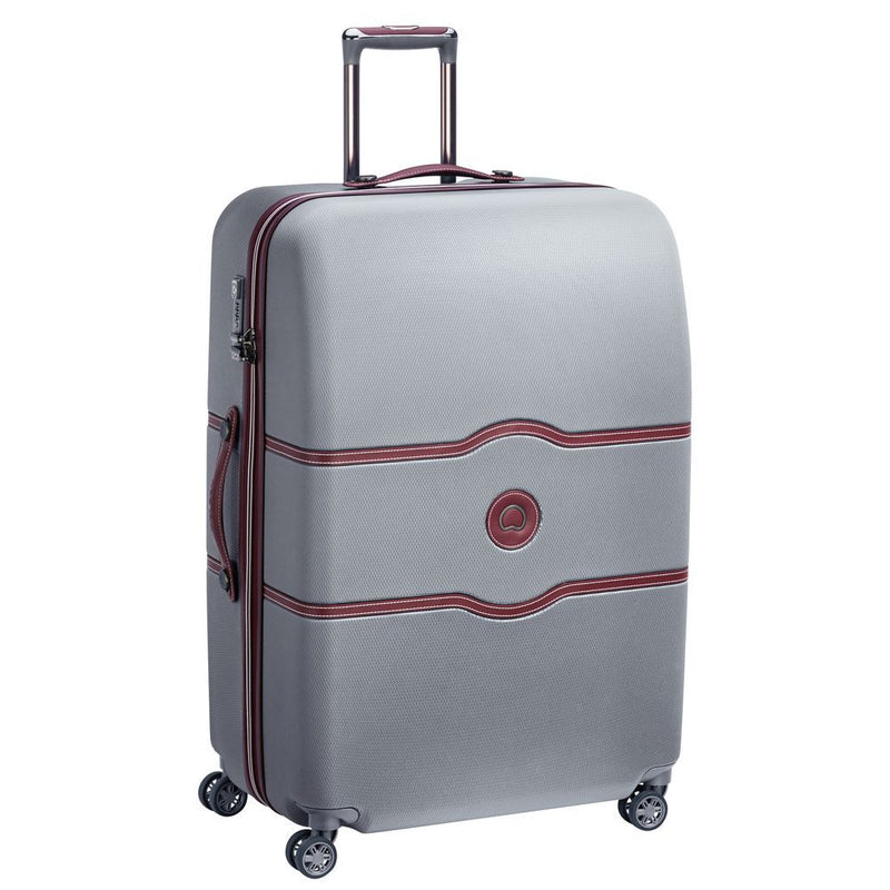 Delsey Chatelet Air Large Check In Case 82cm 4 Double Wheels | Silver - KaryKase