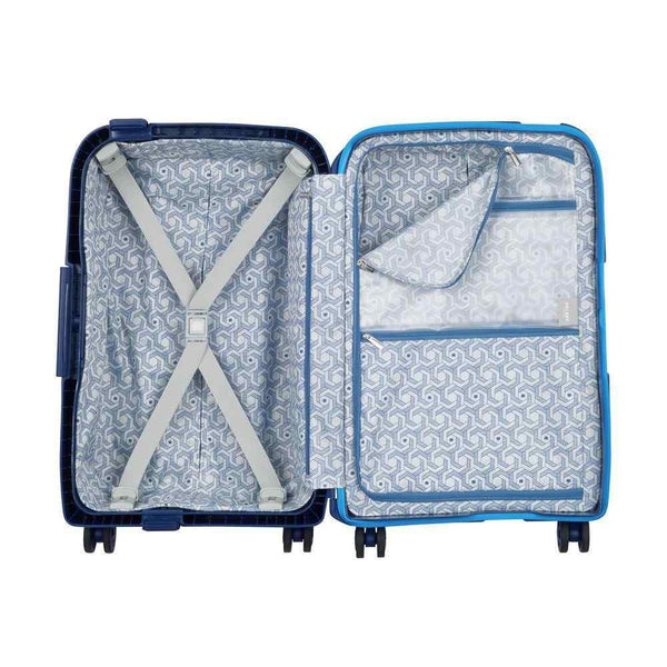 Delsey Moncey Cabin Trolley Case 55 cm 4 Double Wheels  | Blue - KaryKase