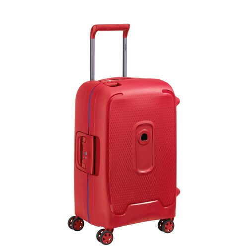 Delsey Moncey Cabin Trolley Case 55 cm 4 Double Wheels  | Red - KaryKase