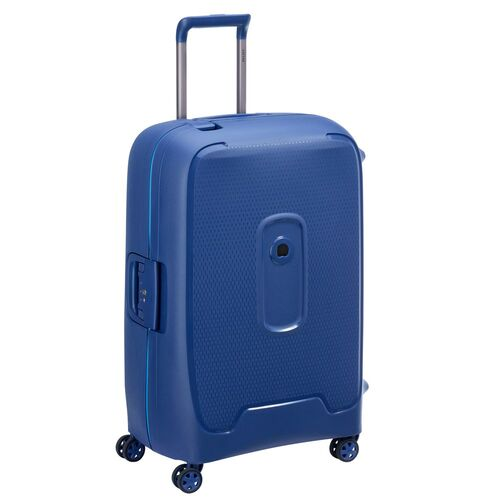 Delsey Moncey Medium Check In Case 69cm 4 Double Wheels | Blue - KaryKase